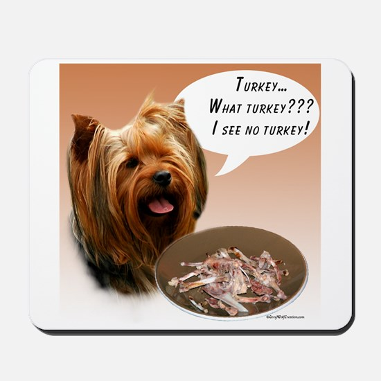 Yorkie Turkey Mousepad