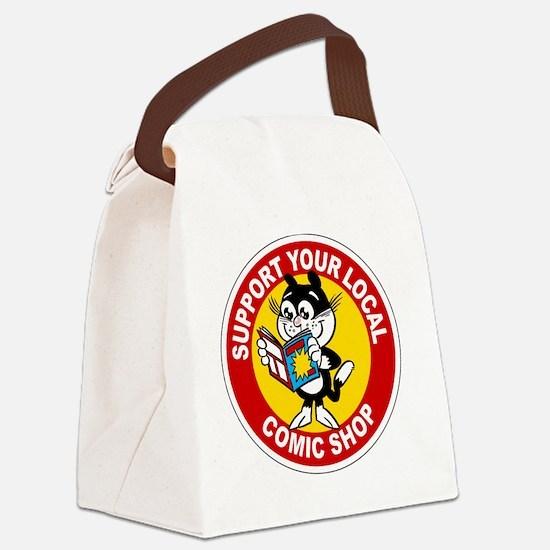 Unique Cat comics Canvas Lunch Bag