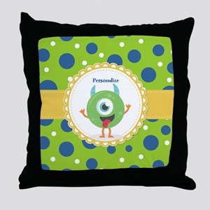 Silly Monster Friend Personalized Throw Pillow