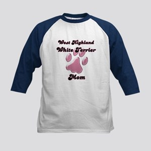 Westie Mom3 Kids Baseball Jersey