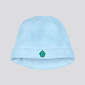 Teal psychedelic Buddha baby hat