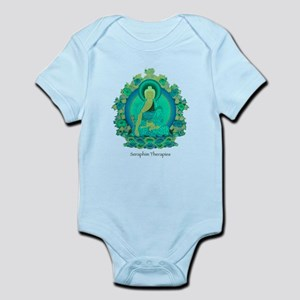 Teal psychedelic Buddha Body Suit