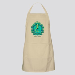 Teal psychedelic Buddha Apron