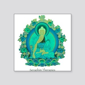 Teal psychedelic Buddha Sticker