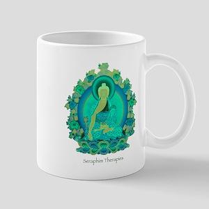 Teal psychedelic Buddha Mugs