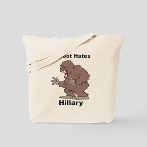 Bigfoot Hates Hillary Clinton Tote Bag