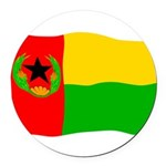 "Cabo Verde History Flag 5.5"" Round Car Magnet"
