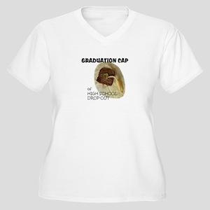 HS Dropout Women's Plus Size V-Neck T-Shirt
