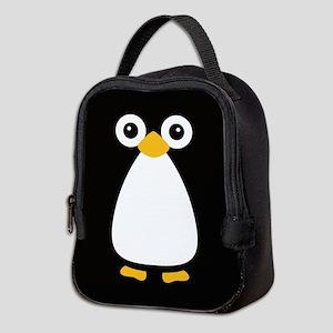 Cute Vector Penguin Neoprene Lunch Bag
