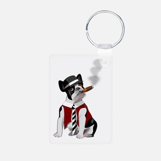 Smoking French Bulldog Keychains