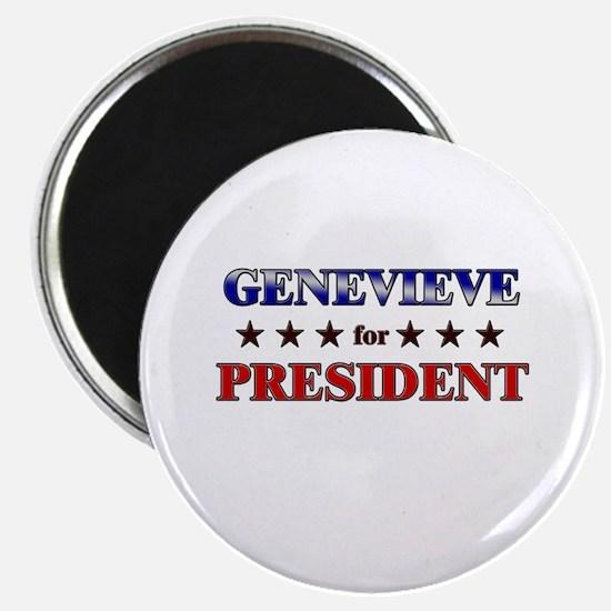 GENEVIEVE for president Magnet