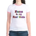 Jesus is my Soul Mate Jr. Ringer T-Shirt