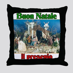 Buon Natale (Merry Christmas) Il Presepio Throw Pi