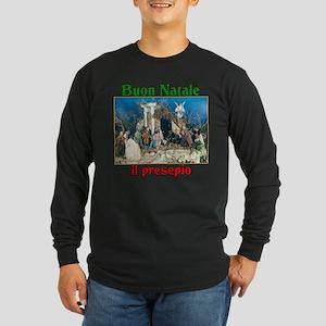 Buon Natale (Merry Christmas) Il Presepio Long Sle