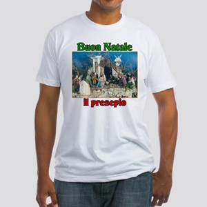 Buon Natale (Merry Christmas) Il Presepio Fitted T
