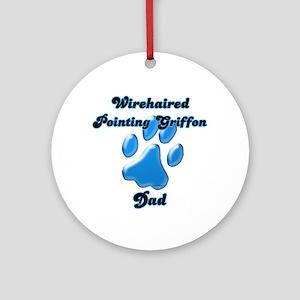 Griffon Dad3 Ornament (Round)
