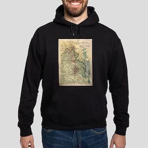 Vintage Virginia Civil War Battlefie Hoodie (dark)