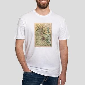Vintage Virginia Civil War Battlefield Map T-Shirt