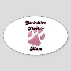 Yorkie Mom3 Oval Sticker