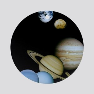 SOLAR SYSTEM Round Ornament