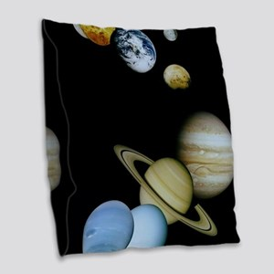 SOLAR SYSTEM Burlap Throw Pillow