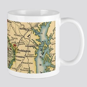 Vintage Virginia Civil War Battlefield Map (1 Mugs