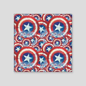 "Cap Brooklyn Shields Square Sticker 3"" x 3"""