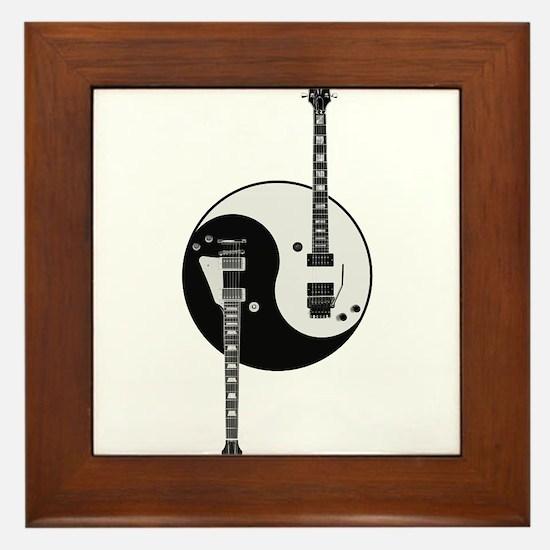 Yin Yang Guitars Framed Tile