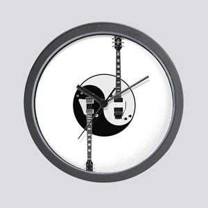 Yin Yang Guitars Wall Clock