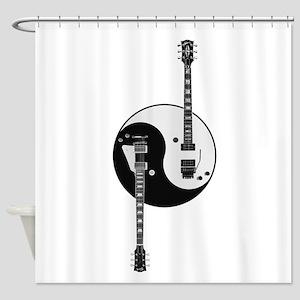 Yin Yang Guitars Shower Curtain