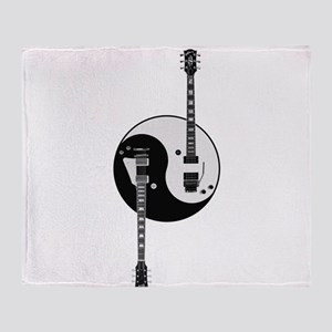 Yin Yang Guitars Throw Blanket