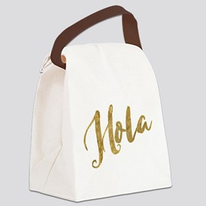 Golden Look Hola Canvas Lunch Bag