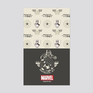 Captain America Brooklyn Dolla Sticker (Rectangle)