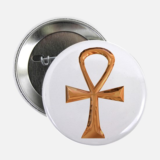 Egyptian Ankh Button