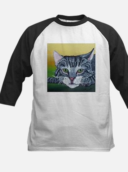 Grey Tabby Cat Baseball Jersey