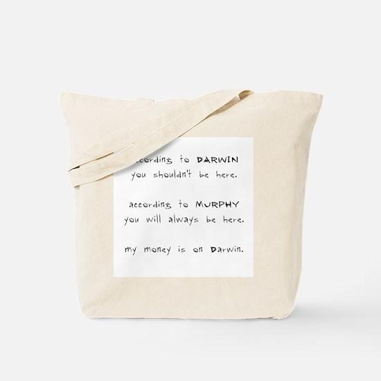 Murphy vs. Darwin Tote Bag