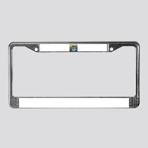 Grey Tabby Cat License Plate Frame
