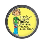 Emo Is Just An Excuse For Boy Wall Clock