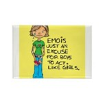 Emo Is Just An Excuse For Boy Rectangle Magnet (10