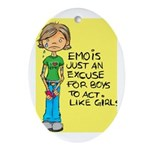 Emo Is Just An Excuse For Boy Oval Ornament