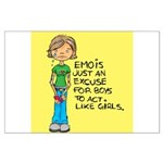 Emo Is Just An Excuse For Boy Large Poster