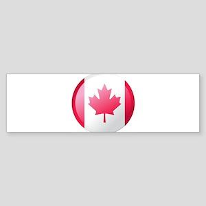 CANADA BUTTON Bumper Sticker