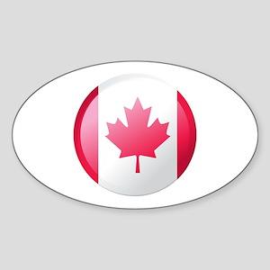 CANADA BUTTON Oval Sticker