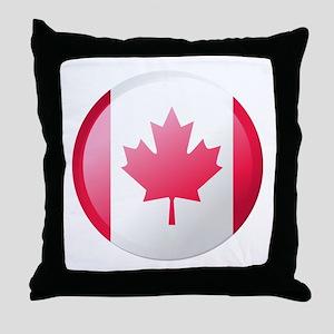 CANADA BUTTON Throw Pillow