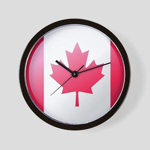CANADA BUTTON Wall Clock