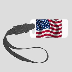 USA Flag Small Luggage Tag