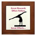 Gymnastics Framed Tile - Rewards