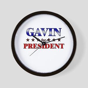 GAVIN for president Wall Clock