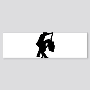 Romantic Couple Dance Bumper Sticker