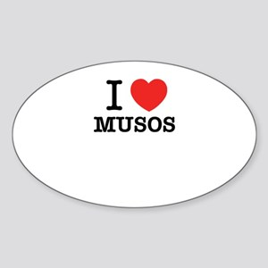 I Love MUSOS Sticker